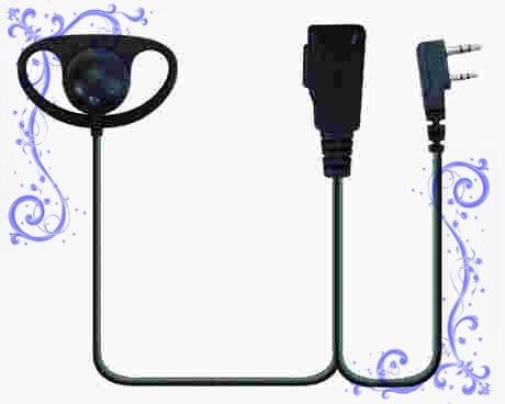 KENWOOD TK3107,TK3207對講機D型耳掛耳機 泛宇無線電對講機