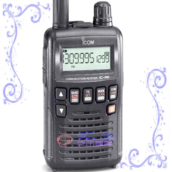 ICOM  IC-R6(接收機) 泛宇無線電對講機